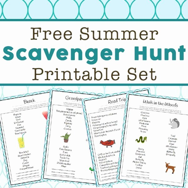 Bible Scavenger Hunt Worksheet Best Of Summer Scavenger Hunt Ideas 14 Free Printable Scavenger