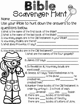 Bible Scavenger Hunt Worksheet Fresh Bible Scavenger Hunt by A Drop In the Ocean