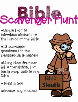 Bible Scavenger Hunt Worksheet Lovely Bible Scavenger Hunt by A Drop In the Ocean