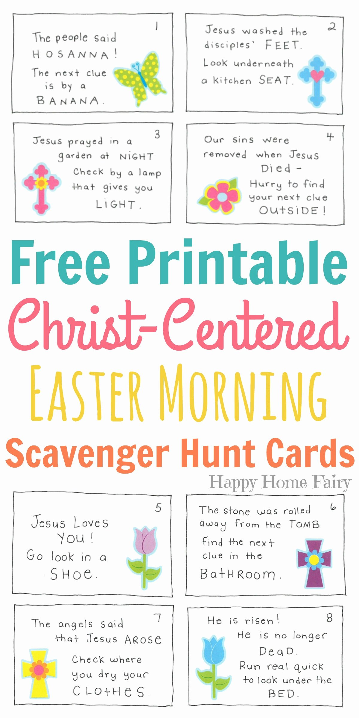 Bible Scavenger Hunt Worksheet New Christ Centered Easter Morning Scavenger Hunt for