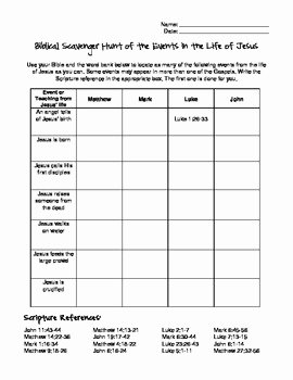 Bible Scavenger Hunt Worksheet Unique Bible Scavenger Hunt Worksheet Siteraven