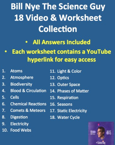 Bill Nye atoms Worksheet Answers Elegant Bill Nye Video Worksheets Plete 20 Video Worksheet