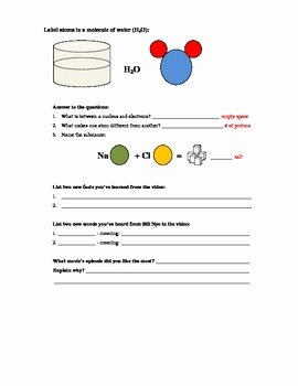 Bill Nye atoms Worksheet Answers Luxury Bill Nye Science Guy Movie atoms and Molecules Video