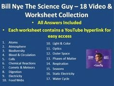 Bill Nye atoms Worksheet Answers New 1000 Images About Bill Nye the Science Guy On Pinterest
