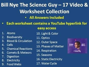 Bill Nye atoms Worksheet Inspirational Bill Nye Video Worksheets Plete 20 Video Worksheet