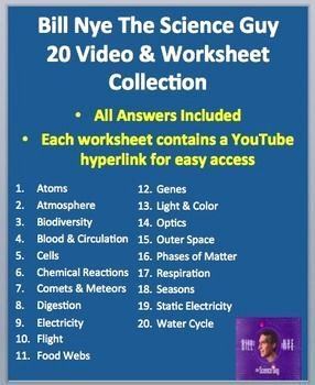Bill Nye Biodiversity Worksheet Answers New Bill Nye Video Worksheets 20 Plete Video Panion