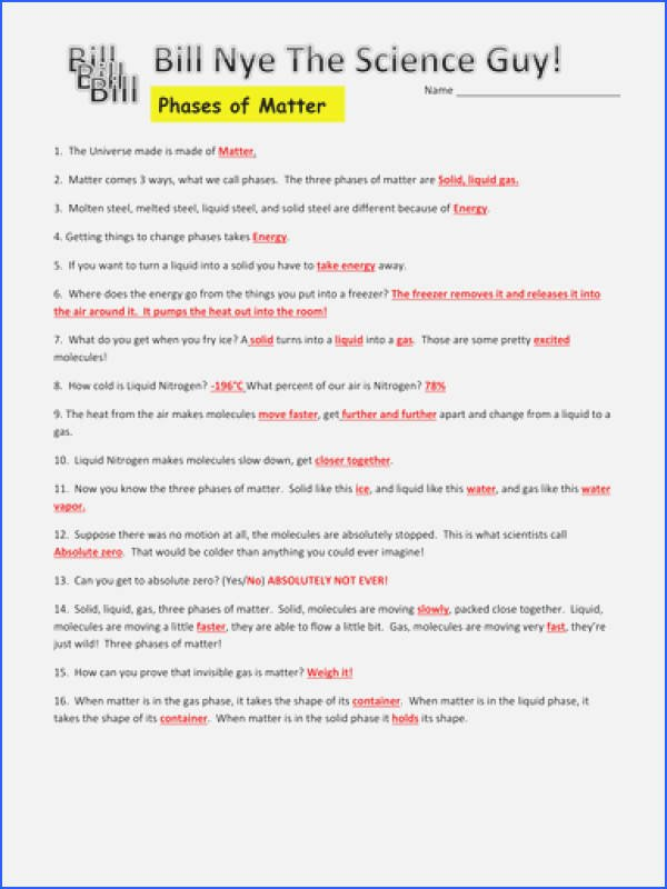 Bill Nye Chemical Reactions Worksheet New Bill Nye Chemical Reactions Worksheet