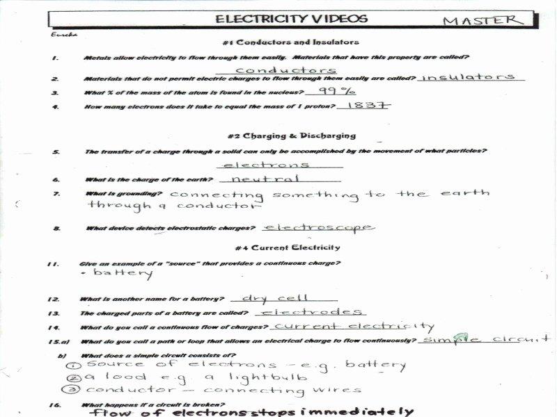 Bill Nye Electricity Worksheet Fresh Bill Nye Energy Worksheet Answers Free Printable Worksheets