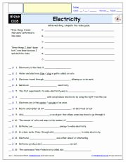 Bill Nye Electricity Worksheet Luxury Free Differentiated Worksheet for the Bill Nye the