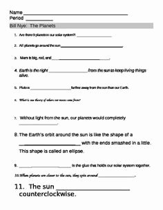 Bill Nye Energy Worksheet Awesome Bill Nye the Science Guy Energy Worksheet Answers