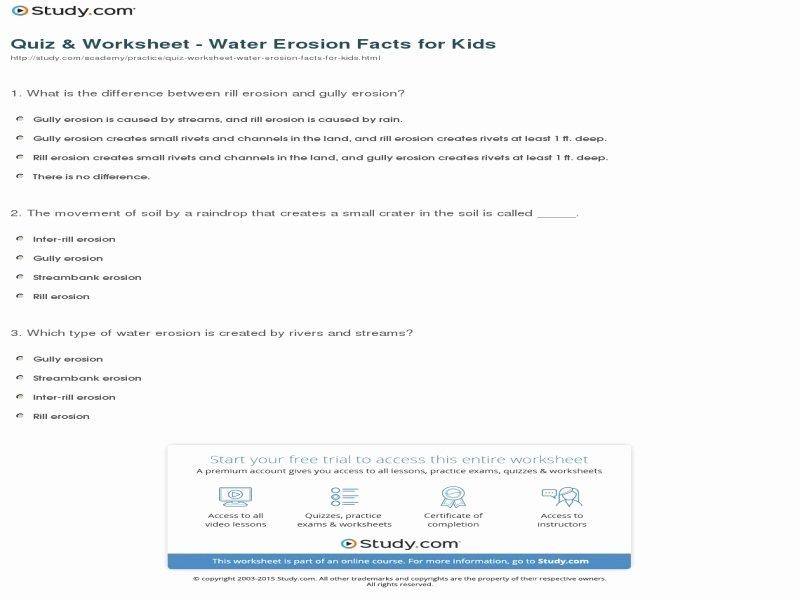Bill Nye Erosion Worksheet Best Of Bill Nye Erosion Worksheet Free Printable Worksheets