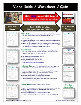 Bill Nye Food Web Worksheet Beautiful Differentiated Video Worksheet Quiz & Ans for Bill Nye