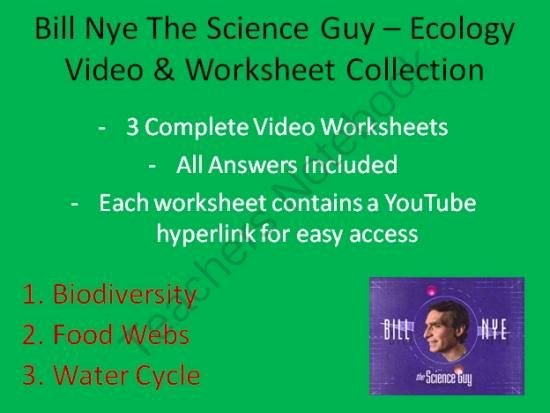 Bill Nye Food Web Worksheet Elegant Bill Nye Video Worksheets Three Ecology Worksheet