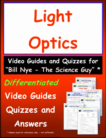 Bill Nye Fossils Worksheet Awesome Worksheet for Bill Nye Light Optics Video