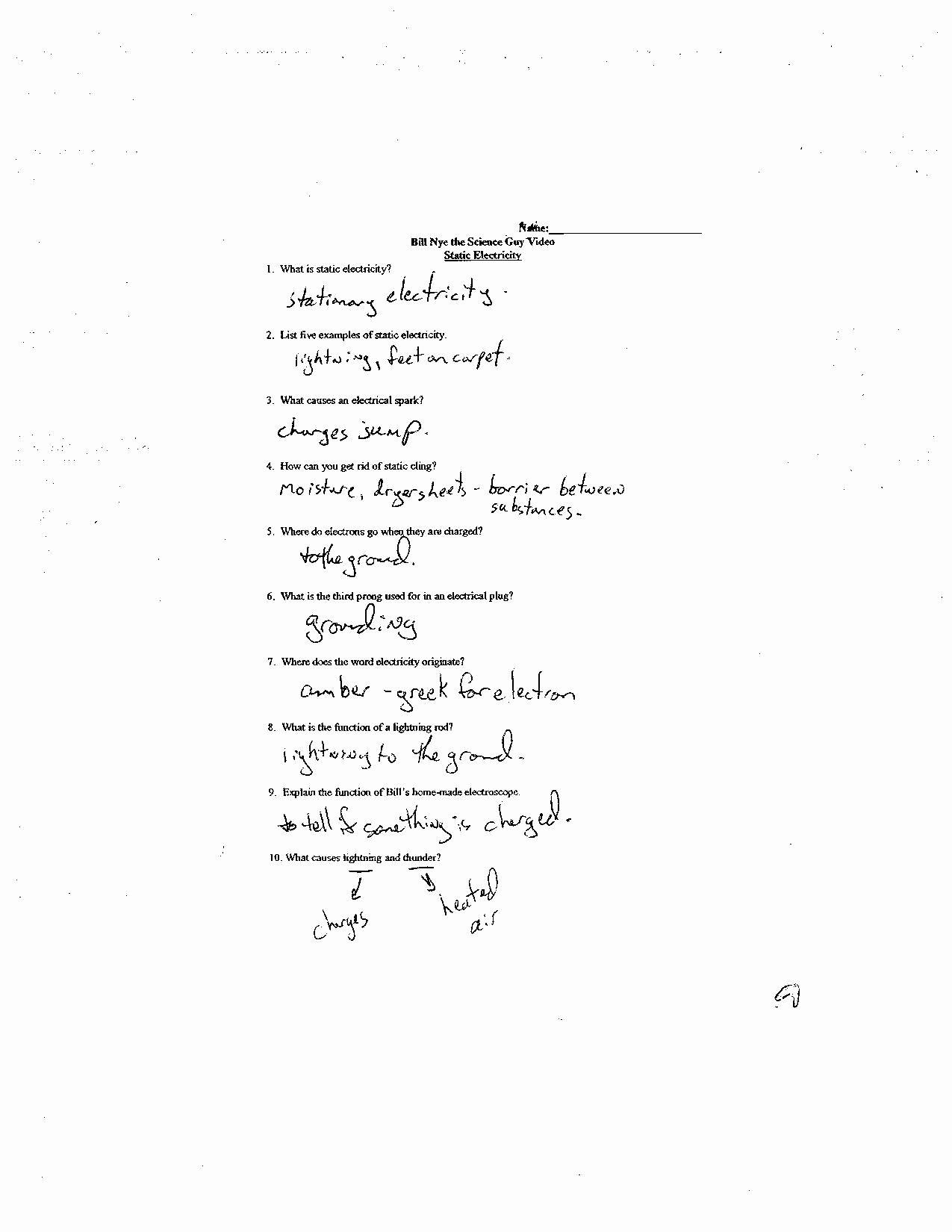 Bill Nye Genes Worksheet Best Of Bill Nye Genes Video Worksheet Answers