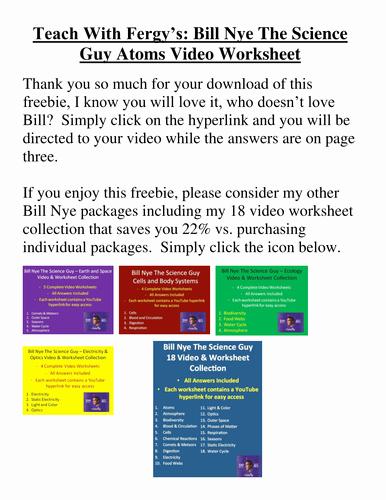 Bill Nye Genes Worksheet Fresh Bill Nye Video Worksheets Plete 20 Video Worksheet