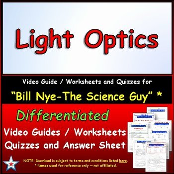 Bill Nye Magnetism Worksheet Answers Best Of Bill Nye Light Optics – Worksheet Answer by Star