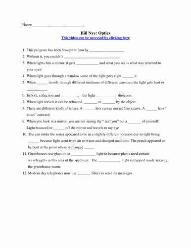 Bill Nye Magnetism Worksheet Answers Fresh Bill Nye Electricity Worksheet
