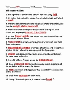 Bill Nye Motion Worksheet Answers Awesome 1000 Images About Bill Nye On Pinterest