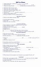 Bill Nye Motion Worksheet Beautiful Bill Nye Plants Questions Worksheet for 5th 10th Grade