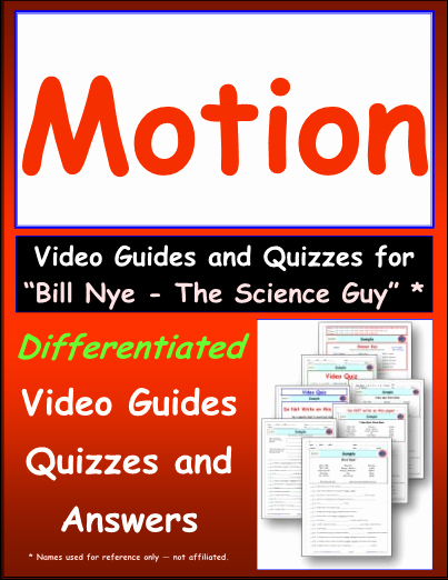 Bill Nye Motion Worksheet Lovely Worksheet for Bill Nye Motion Video Differentiated