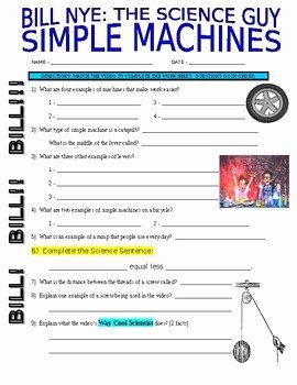 Bill Nye Simple Machines Worksheet Beautiful Bill Nye the Science Guy Simple Machines Worksheet Answers
