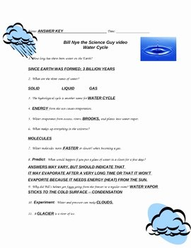 Bill Nye Water Cycle Worksheet Beautiful Bill Nye Water Cycle by Purplepanda