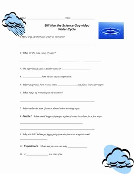 Bill Nye Water Cycle Worksheet Best Of Bill Nye Water Cycle by Purplepanda