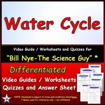 Bill Nye Water Cycle Worksheet Fresh Star Materials Teaching Resources