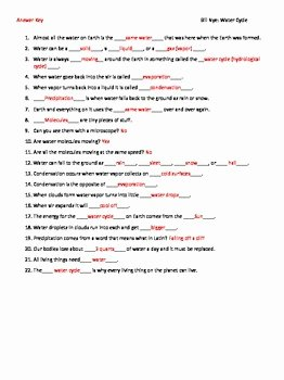 Bill Nye Water Cycle Worksheet Lovely Video Worksheet Movie Guide for Bill Nye the Water