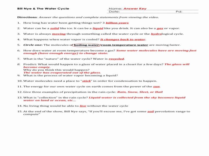 Bill Nye Water Cycle Worksheet Unique Bill Nye atmosphere Worksheet Free Printable Worksheets