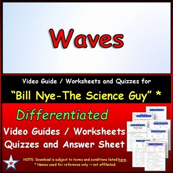 Bill Nye Waves Worksheet Fresh Differentiated Video Worksheet Quiz & Ans for Bill Nye