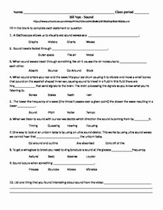 Bill Nye Waves Worksheet Inspirational Video Worksheet Movie Guide for Bill Nye Light and
