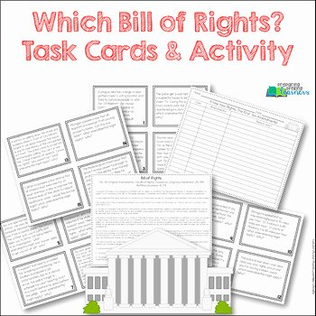Bill Of Rights Scenario Worksheet Beautiful which Bill Of Rights Bill Of Rights Task Card Activity