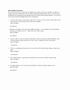 Bill Of Rights Scenario Worksheet Elegant Bill Of Rights Worksheet 3rd 4th Grade Worksheet