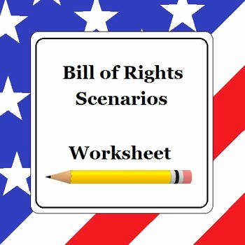 Bill Of Rights Scenario Worksheet Lovely Bill Rights Worksheet