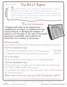 Bill Of Rights Scenario Worksheet Luxury Bill Of Rights Printables