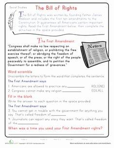 Bill Of Rights Scenario Worksheet Luxury Bill Of Rights Printables