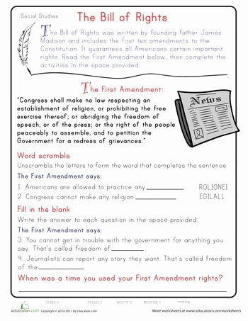 Bill Of Rights Scenarios Worksheet New 17 Best Images About social Stu S Worksheets On