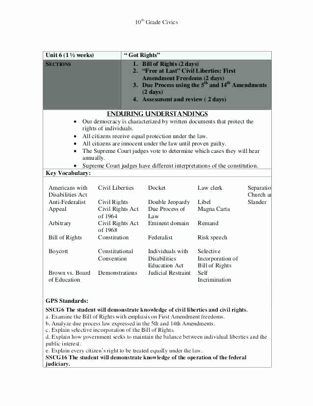 Bill Of Rights Worksheet Answers Beautiful Bill Rights Worksheet Answer Key