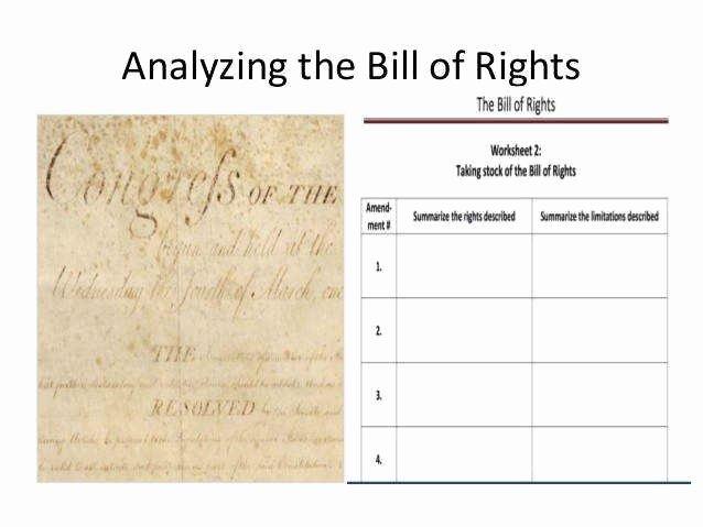 Bill Of Rights Worksheet Answers Elegant Bill Rights Worksheet