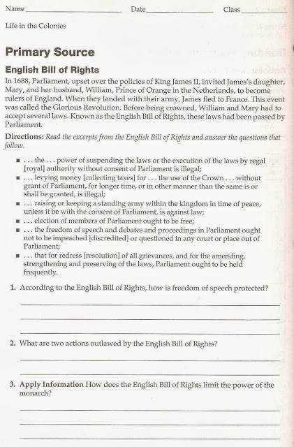 Bill Of Rights Worksheet Answers Fresh Bill Rights Worksheet