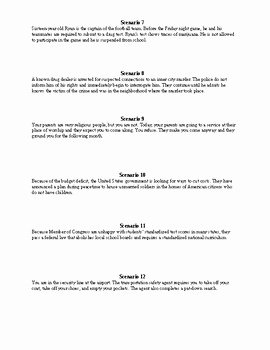 Bill Of Rights Worksheet Answers Inspirational Bill Of Rights Scenarios by Randy Tease