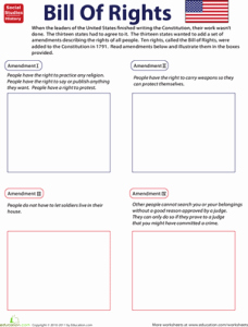 Bill Of Rights Worksheet Beautiful Free History & Geography Resources