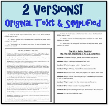 Bill Of Rights Worksheet Luxury the Bill Of Rights Fun Analogy Worksheet Constitution Day
