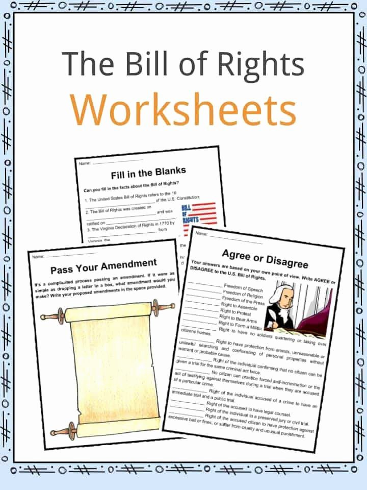Bill Of Rights Worksheet New Bill Rights Worksheet