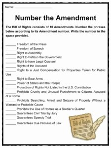 Bill Of Rights Worksheet Pdf Awesome the United States Bill Of Rights Facts & Worksheets for Kids