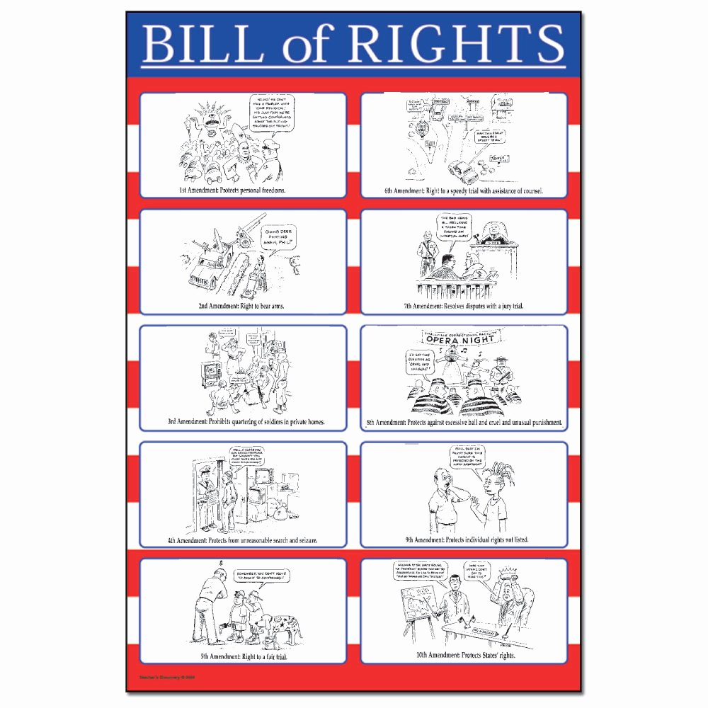 Bill Of Rights Worksheet Pdf Beautiful Bill Of Rights Mini Poster Set social Stu S Teacher S