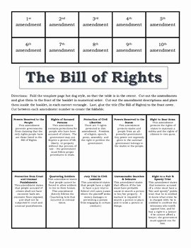 Bill Of Rights Worksheet Pdf Inspirational Bill Of Rights Foldable by Jennifer Roques