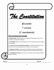 Bill Of Rights Worksheet Pdf Lovely Amendments Worksheet Pdf Amendments Worksheet Bill Of